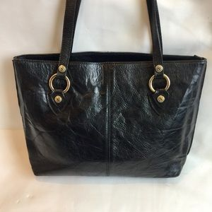 Vintage Valentina Leather Tote Made in Italy
